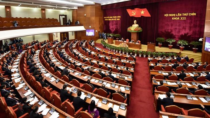 Toàn cảnh Hội nghị lần thứ 9 Ban Chấp hành Trung ương Đảng Khóa XII. Ảnh: Nhật Bắc