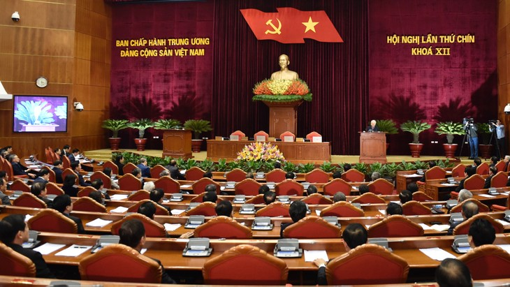 Toàn cảnh ngày bế mạc Hội nghị lần thứ 9 Ban Chấp hành Trung ương Đảng khoá XII
