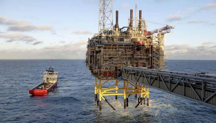 Một giàn khoan dầu khí trên biển của Na Uy - Ảnh: Reuters/CNBC.