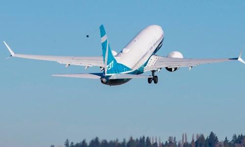 Một chiếc 737 Max của Boeing. Ảnh:AFP