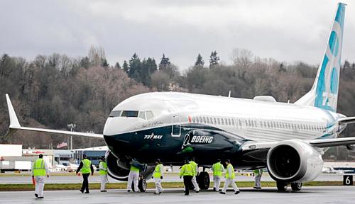 Một chiếc737 MAX 8 của hãng sản xuất máy bay Mỹ - Boeing. Ảnh:AFP