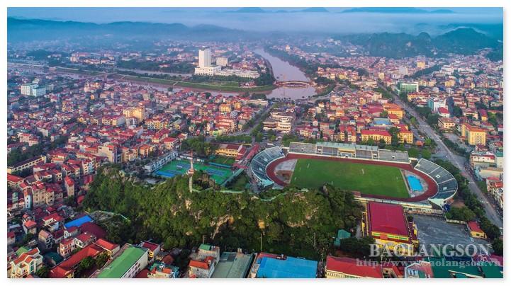 Một góc thành phố Lạng Sơn - Ảnh Báo Lạng Sơn