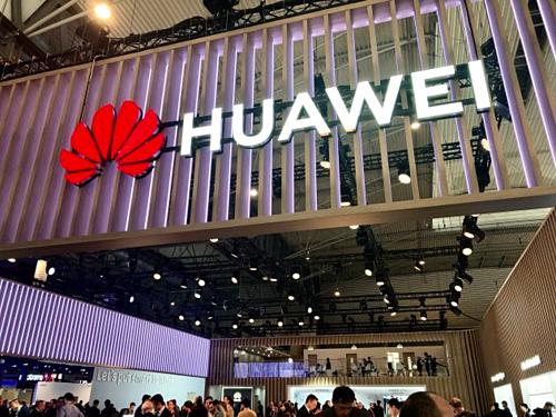 Một trong các gian hàng của Huawei tại MWC ở Barcelona (Tây Ban Nha) tháng trước. Ảnh:CNBC