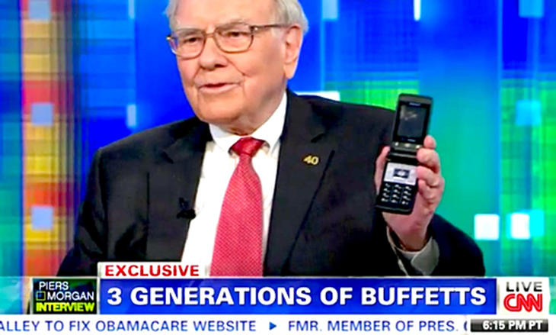 Một lần hiếm hoi Warren Buffett chia sẻ về thiết bị di động của mình.