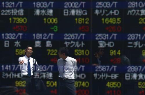 Chứng khoán châu Á đi lên. Ảnh: Reuters