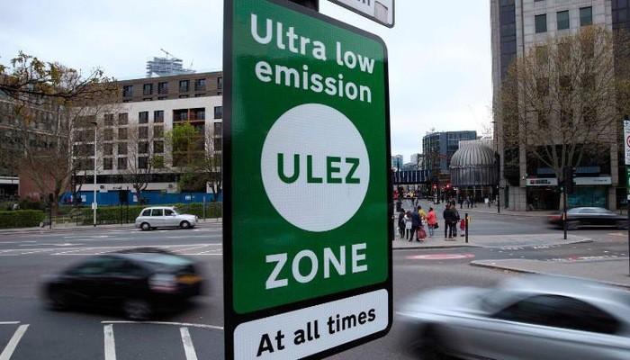 Biển thông tin về khu vực ULEZ tại Anh - Ảnh: Getty Images.