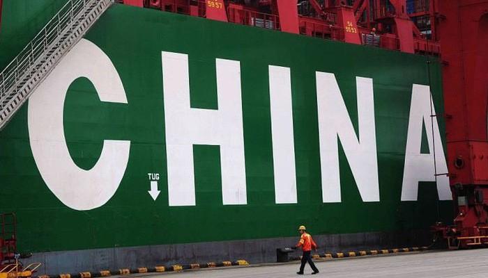 """Dòng chữ """"China"""" (Trung Quốc) tại một cảng biển ở Thanh Đảo - Ảnh: Getty/CNBC."""