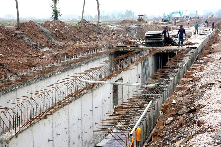 Gói thầu số 4 là gói thầu đầu tiên của Dự án Hệ thống xử lý nước thải Yên Xá TP. Hà Nội chọn xong nhà thầu. Ảnh: Phú An