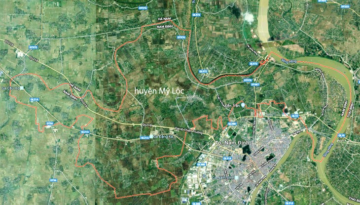 Khu công nghiệp Mỹ Thuận dự kiến có quy mô hơn 158 ha tại huyện Mỹ Lộc, tỉnh Nam Định. Ảnh: Tường Lâm