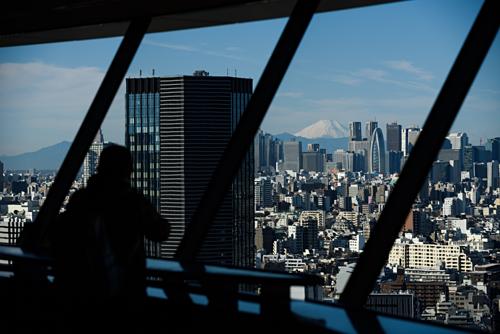 Thủ đô Tokyo và núi Phú Sĩ tại Nhật Bản. Ảnh:Bloomberg