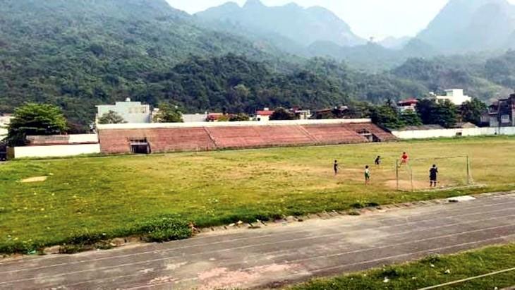Theo quy hoạch, Sân vận động C10, TP. Hà Giang được đầu tư thành tổ hợp thương mại, khách sạn và nhà ở. Ảnh St