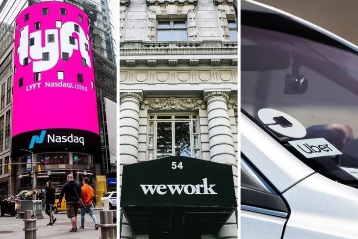 Nhà đầu tư đang hoài nghi về tương lai của Uber, Lyft hay WeWork. Ảnh:NYT