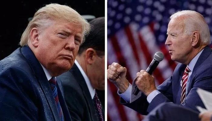 Tổng thống Mỹ Donald Trump (trái) và cựu Phó tổng thống Mỹ Joe Biden.