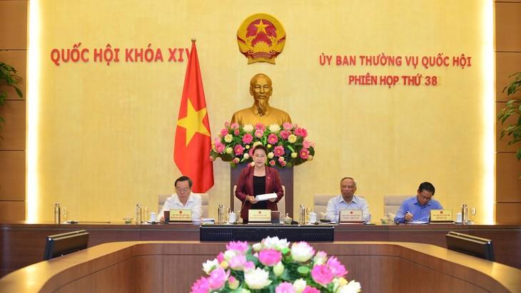 Chủ tịch Quốc hội Nguyễn Thị Kim Ngân phát biểu khai mạc Phiên họp thứ 38 của Ủy ban Thường vụ Quốc hội. Ảnh: Quang Khánh