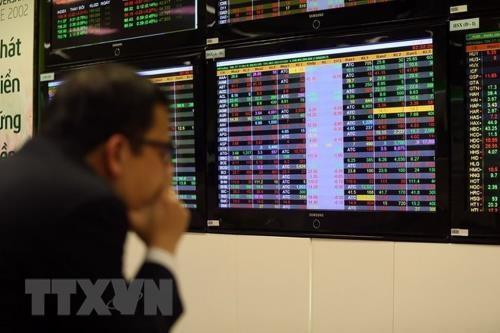 VN-Index giảm 5,74 điểm. Ảnh minh họa: TTXVN