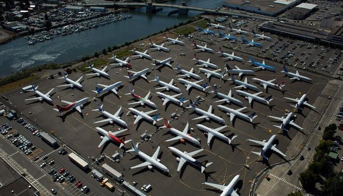 Máy bay Boeing 737 Max đã bị đình bay kể từ giữa tháng 3 năm nay sau hai vụ tai nạn làm 346 người chết - Ảnh: Reuters.