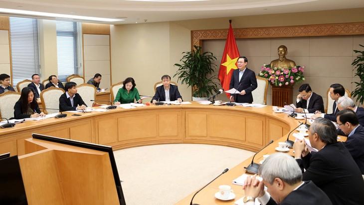 Phó Thủ tướng Vương Đình Huệ phát biểu tại phiên họp cuối năm của Ban Chỉ đạo điều hành giá. Ảnh: Thành Chung