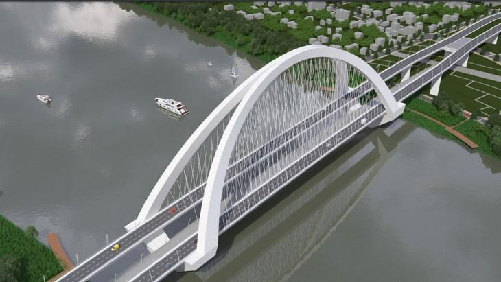 1 trong 15 phương án thiết kế cầu vượt sông Hương (TP. Huế)