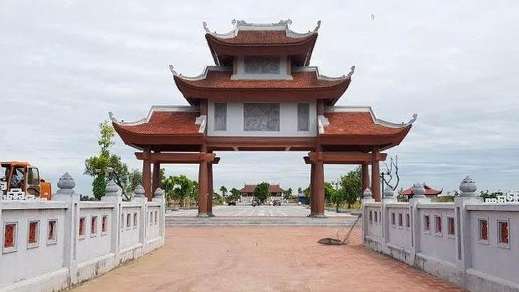 Dự kiến, đầu tháng 3/2020, Công ty TNHH Xây dựng Hồng Minh sẽ khởi công Gói thầu số 07 Xây lắp công trình đường vào Khu lưu niệm nhà bác học Lê Quý Đôn (Thái Bình). Ảnh: Trọng Tài