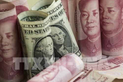 Sáng nay, giá USD tại các ngân hàng thương mại đồng loạt giảm nhẹ, trong khi giá đồng Nhân dân tệ (NDT) tăng mạnh. Ảnh: TTXVN phát
