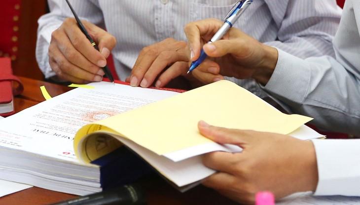 Tại nhiều gói thầu quy mô lớn do Ban QLDA ĐTXD huyện Hưng Hà (Thái Bình) mời thầu, Công ty TNHH Xây dựng Xuân Trang Thái Bình bị đánh trượt do không nộp bảo đảm dự thầu. Ảnh: Nhã Chi