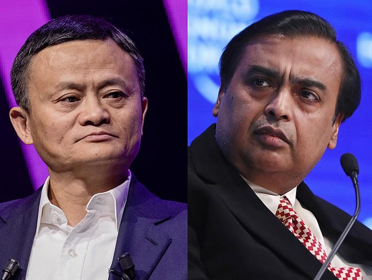 Jack Ma (trái) và Mukesh Ambani hiện là hai người giàu nhất châu Á. Ảnh:Bloomberg