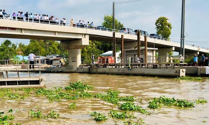 Dự án Cống âu thuyền Ninh Quới trên kênh Quản Lộ - Phụng Hiệp (tỉnh Bạc Liêu) đã cơ bản hoàn thành. Ảnh: St