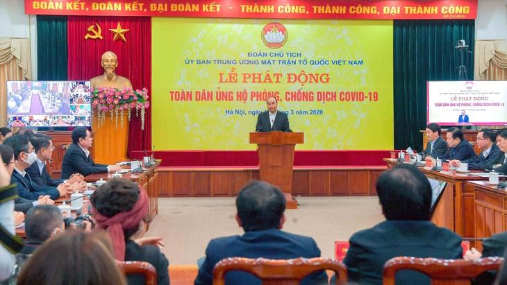 Thủ tướng Nguyễn Xuân Phúc phát biểu tại Lễ phát động toàn dân chung tay phòng, chống dịch Covid-19