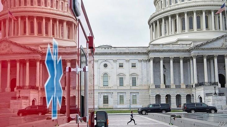 Một góc trụ sở quốc hội Mỹ.Ảnh: AFP