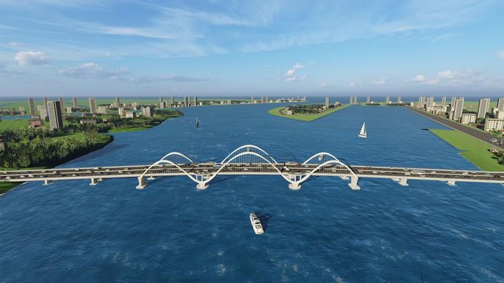 Dự án Cầu Cửa Lục 1 có tổng mức đầu tư gần 2.110 tỷ đồng. Ảnh: Đỗ Phương