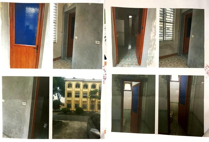 Nhà thầu phản ánh các hạng mục phụ trợ của công trình nhà làm việc 3 tầng trụ sở UBND huyện Lập Thạch, tỉnh Vĩnh Phúc đã được thi công (Ảnh nhà thầu cung cấp)