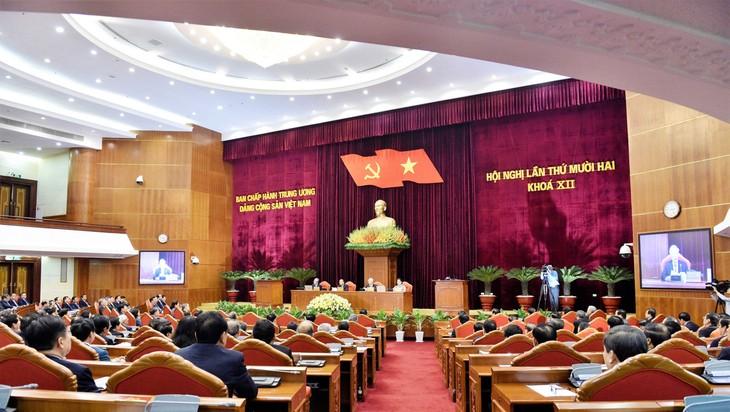 Toàn cảnh Phiên bế mạc Hội nghị lần thứ 12 Ban Chấp hành Trung ương Đảng khóa XII. Ảnh: Nhật Bắc