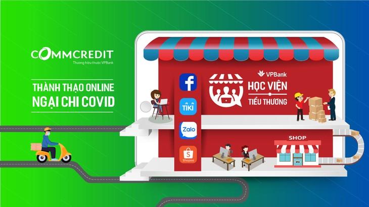 Các khóa học và hỗ trợ của VPBank hướng đến mục tiêu đưa được ít nhất 50.000 tiểu thương chuyển đổi tập quán kinh doanh từ offline lên online