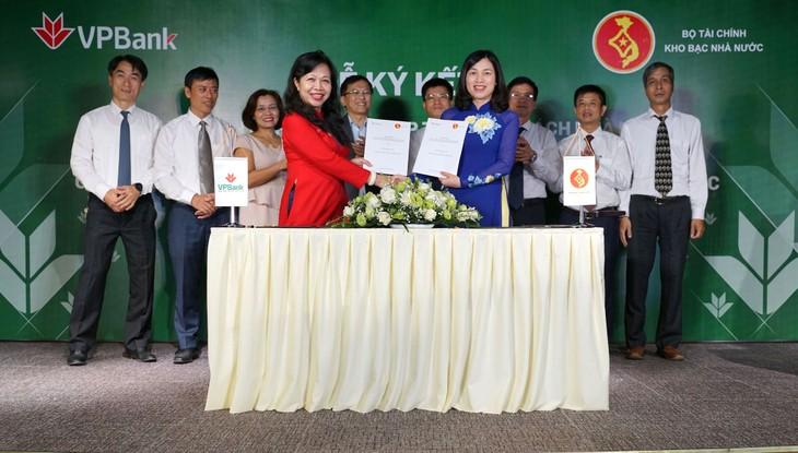 Lễ ký kết hợp tác song phương giữa Kho bạc Nhà nước và VPBank