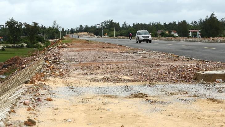 Các địa phương đã cơ bản hoàn thành giải phóng mặt bằng 3 dự án thành phần Mai Sơn - Quốc lộ 45, Vĩnh Hảo - Phan Thiết, Phan Thiết - Dầu Giây. Ảnh: Nhã Chi