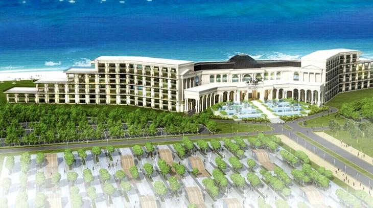 Các khu đất đấu giá nằm trong quy hoạch chi tiết Khu du lịch nghỉ dưỡng, thể thao, thương mại và giải trí cao cấp FLC tại Quảng Bình. Ảnh mô hình: Nhã Chi