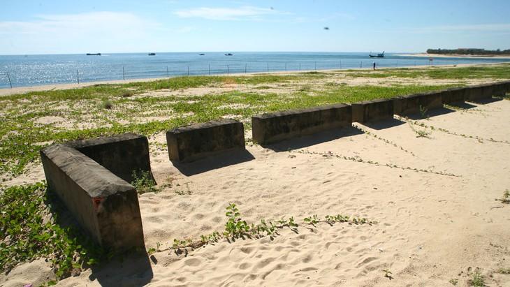 Dự án Đầu tư xây dựng 18 cống trên tuyến đê biển, ven biển tỉnh Kiên Giang có tổng mức đầu tư dự kiến 1.484 tỷ đồng. Ảnh: Nhã Chi