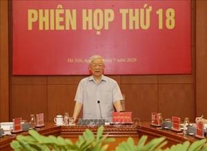 Tổng Bí thư, Chủ tịch nước Nguyễn Phú Trọng phát biểu chỉ đạo phiên họp