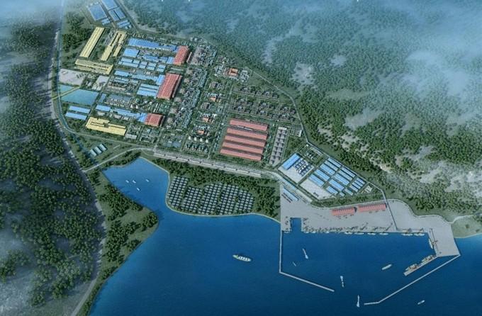 Phối cảnh siêu dự án thép Hoa Sen - Cà Ná dự kiến triển khai ở tỉnh Ninh Thuận. Ảnh Internet