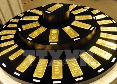 Giá vàng thế giới tăng sau quyết định của Fed. Ảnh minh họa: TTXVN