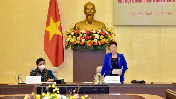 Chủ tịch Quốc hội Nguyễn Thị Kim Ngân chủ trì Phiên họp lần thứ 2 Ban Chỉ đạo quốc gia, Ban Tổ chức AIPA 41. Ảnh: Vũ Lâm Hiển