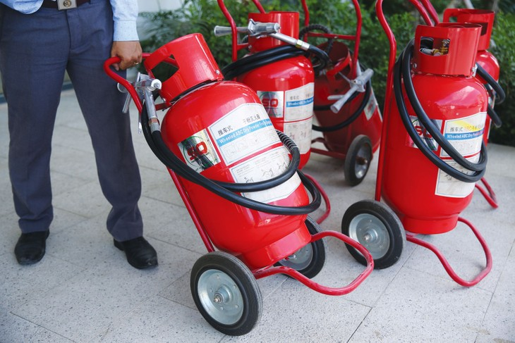 Hạng mục phòng cháy chữa cháy là hạng mục nhỏ so với giá trị Gói thầu số 03 Xây lắp công trình Trường THCS Tân Thành, TP. Thái Nguyên. Ảnh: Nhã Chi