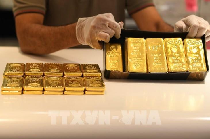 Giá vàng sáng 3/9 giảm 700 nghìn đồng/lượng. Ảnh: TTXVN