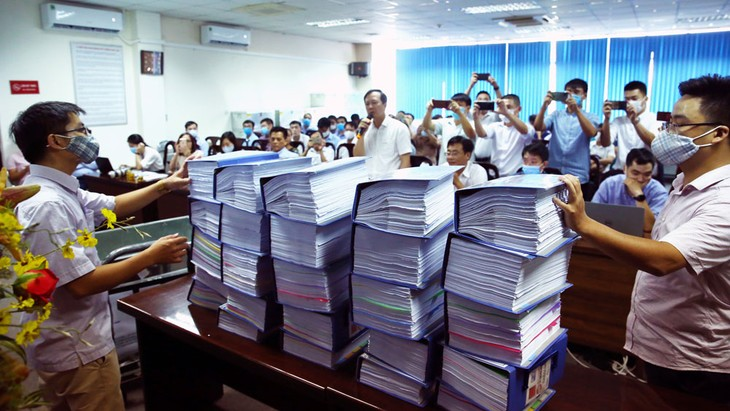 Trong số 139 nhà thầu mua hồ sơ mời thầu, có 15 nhà thầu nộp hồ sơ dự thầu 5 gói thầu xây lắp với tổng giá gói thầu hơn 8.410 tỷ đồng. Ảnh: Lê Tiên