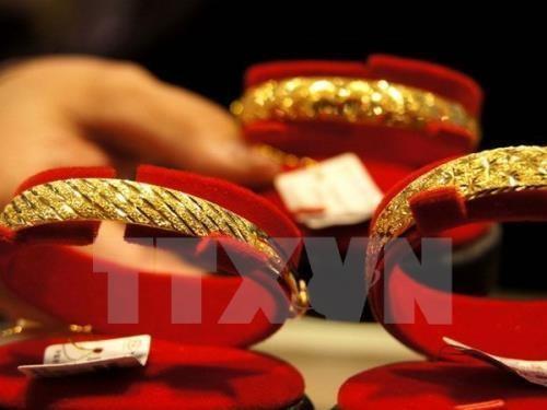 Giá vàng sáng 29/9 tăng 600 nghìn đồng/lượng. Ảnh minh họa: TTXVN