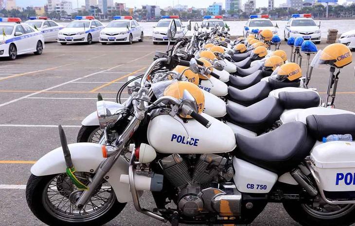 Hàng hóa của Gói thầu Cung cấp 100 xe mô tô chuyên dùng tuần tra kiểm soát được cung cấp trên phạm vi toàn quốc. Ảnh minh họa: Thái Duy