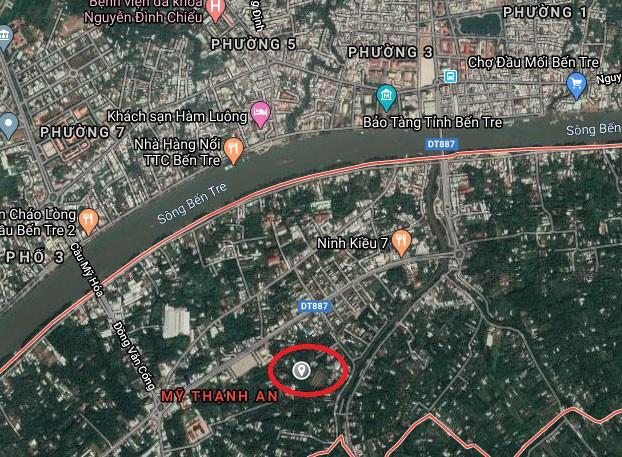 Dự án Đầu tư phát triển Khu đô thị mới An Thuận có quy mô đầu tư trên diện tích khoảng 25,89 ha tại xã Mỹ Thạnh An, thành phố Bến Tre. Ảnh: Nhã Chi