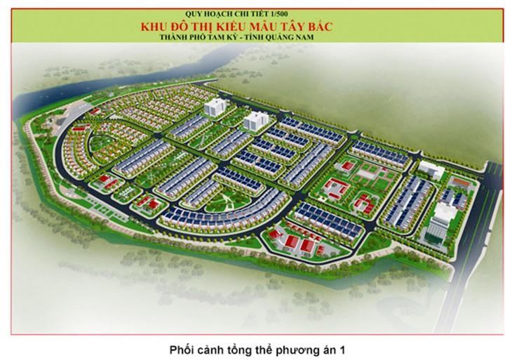 Dự án Khu đô thị kiểu mẫu Tây Bắc (giai đoạn 2) có tổng mức đầu tư khoảng 600 tỷ đồng, được triển khai trên diện tích 29,2 ha tại phường Tân Thạnh, TP. Tam Kỳ, tỉnh Quảng Nam
