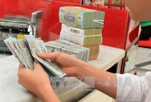 Tỷ giá trung tâm giảm tiếp 5 đồng. Ảnh: Trần Việt/TTXVN.
