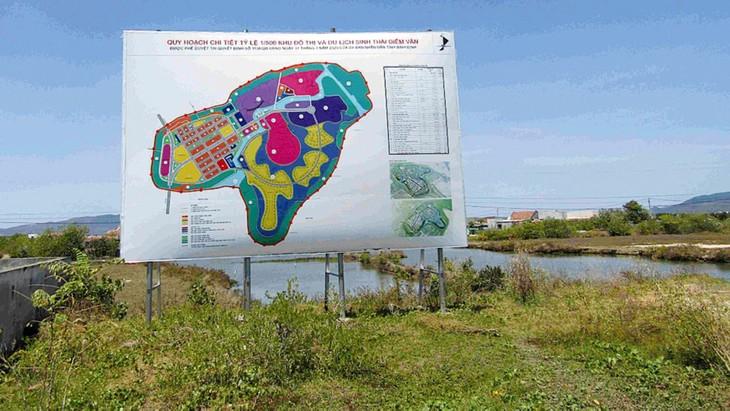 Với vị trí mặt tiền trải dài theo Quốc lộ 19 mới, giáp đầm Thị Nại khiến giá trị của Dự án Khu đô thị và du lịch sinh thái Diêm Vân (Bình Định) được nâng lên nhiều lần. Ảnh: Hoài Tâm